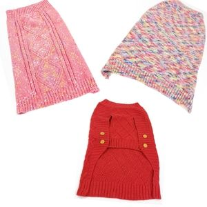 Martha Stewart size L animal sweaters x3